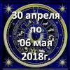 Гороскоп азарта на неделю - с 30 апреля по 06 мая 2018